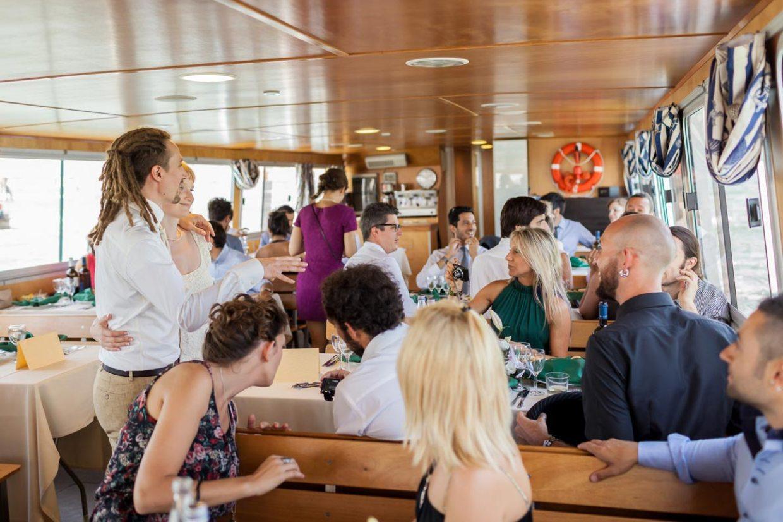 pranzo in barca a venezia